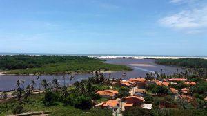 Povoado de Mandacaru, foz do Rio Preguiças, no Parque Nacional dos Lençóis Maranhenses. Barreirinhas/MA (2005). Foto: acervo pessoal MLY.